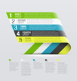 Curved strips - design template vector