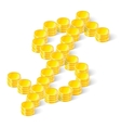 Dollar sign made of coins vector