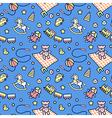 Kid pattern blue vector