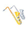 Icon saxophone vector