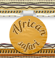 Abstract sticker african safari vector