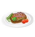 Fried steak 03 vector