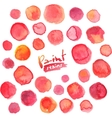 Big set of red watercolor stains vector