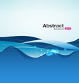 Abstract blue water background vector