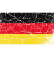 Flag of germany with old texture vector