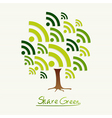 Green concept share icon tree vector