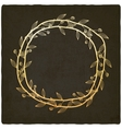 Golden branch old background vector