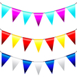 Multi colored triangular flags vector