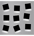 Randomly distributed retro blank photo frames vector