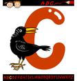 Letter c for crow cartoon vector