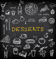 Restaurant menu bakery and cafe template design vector