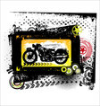 Grunge motorcycle - background vector