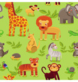 Seamless pattern with cartoon animals vector