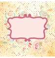Vintage dots rose floral card vector