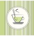 Tea menu card vector
