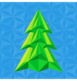 Abstract-green-christmas-tree-on-blue vector