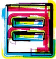Colorful grunge symbol vector