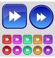 Multimedia sign icon player navigation symbol set vector
