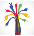 Colorful hand show the victory sign stock vector