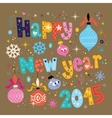 Happy new year 2015 retro greeting card 2 vector