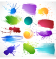 Collection of brush strokes vector