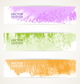 Decorative background color banners vector