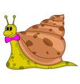 Smiling cartoon snail vector