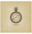 Retro pocket watch old background vector