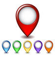 Set of bright map pointer icon vector