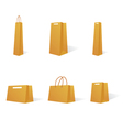Paper bags in various sizes vector