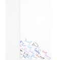 Signatures on paper vector