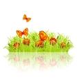 Green meadow vector