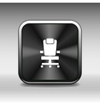 Office chair icon business seat shape equipment vector