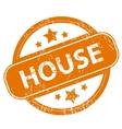 House grunge icon vector