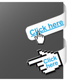 2 right side signs - click here vector