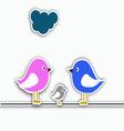 Bird family collage vector