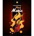 Rock music poster vector