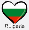 Love bulgaria flag vector