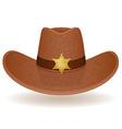 Cowboy hat sheriff vector