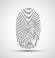 Icon of human finger print vector