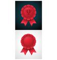 Award badge with ribbon vector