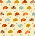 Pattern with umbrellas vector