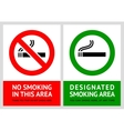 No smoking and smoking area labels - set 13 vector