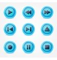 Media player glossy buttons collection vector