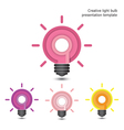 Creative pencil and light bulb design vector