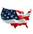 American flag map vector