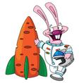 Rabbit astronaut vector