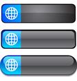 Earth button set vector