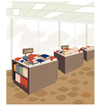 Book store background vector