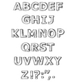 Hand written alphabet vector